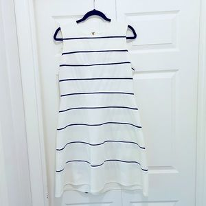 Calvin Klein White and Black Striped Dress Size 14